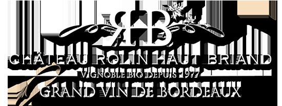 Logo Château Rolin Haut Briand couleur blanc